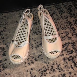 Skechers White Wedge Heels